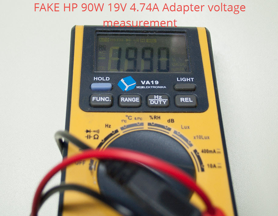 How to distinguish fake / cloned HP laptop AC charging power