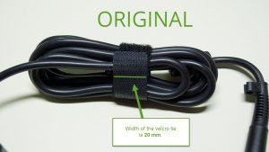 Velcro tie width is 20 mm (0.787 in)