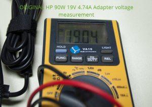 Output DC voltage is 19.04 V