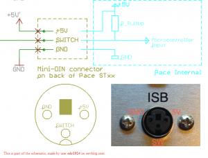 PACE Instant Setback Cubby Mini-DIN-3 port pinout