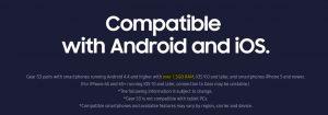 Samsung Gear S2 / Gear S3 / Gear Sport minimum of 1.5GB RAM requirement