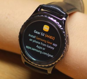 Samsung Gear S2 / Gear S3 / Gear Sport in bluetooth discovery mode