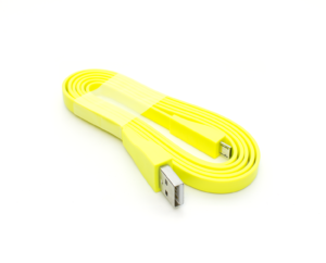 New Logitech UE Yellow Charging Cable